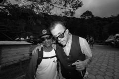 O skatista Bruno Brown e Jake Phelps, editor da revista Thrasher. Foto: Haruo Kaneko