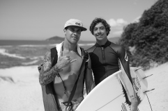 Yago e seu pai e treinador Leandro Dora. Foto: Marcio David