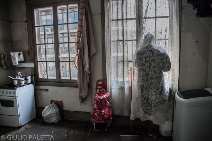Inside a house of Haitians near Se square in São Paulo, Brazil
